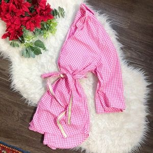LILLY PULITZER CHECKERED BUTTON DOWN DRESS